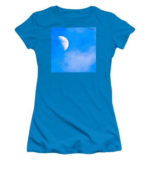 Finally Some #bluesky And The #moon Women's T-Shirt (Athletic Fit)