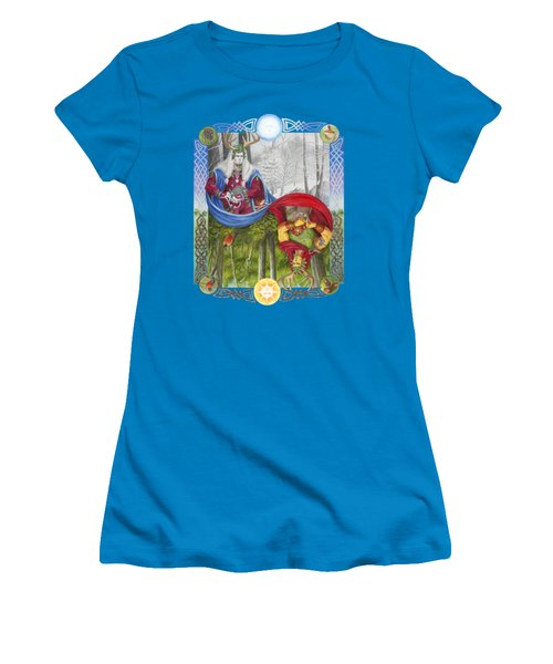 The Holly King And The Oak King Women's T-Shirt (Junior Cut)