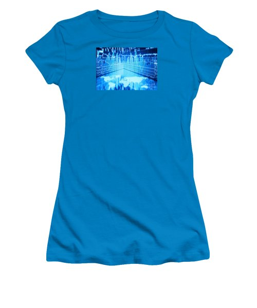 Women's T-Shirt (Junior Cut) featuring the photograph Stock Market Concept by Setsiri Silapasuwanchai