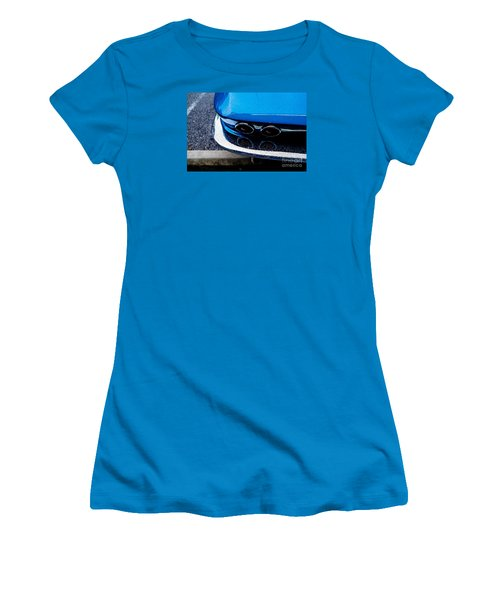 Women's T-Shirt (Junior Cut) featuring the photograph 1965 Corvette Sting Ray by M G Whittingham