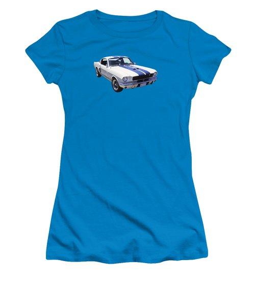 1965 Gt350 Mustang Muscle Car Women's T-Shirt (Junior Cut) by Keith Webber Jr