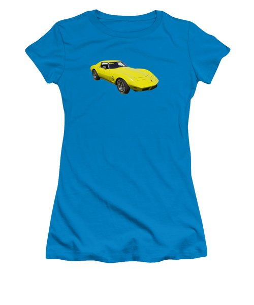 1975 Corvette Stingray Sportscar Women's T-Shirt (Athletic Fit)