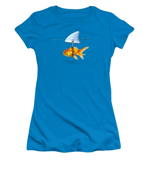 Gold Fish  Women's T-Shirt (Junior Cut) by Mark Ashkenazi