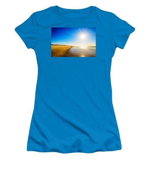 3 On The Beach  Women's T-Shirt (Junior Cut) by John Harding