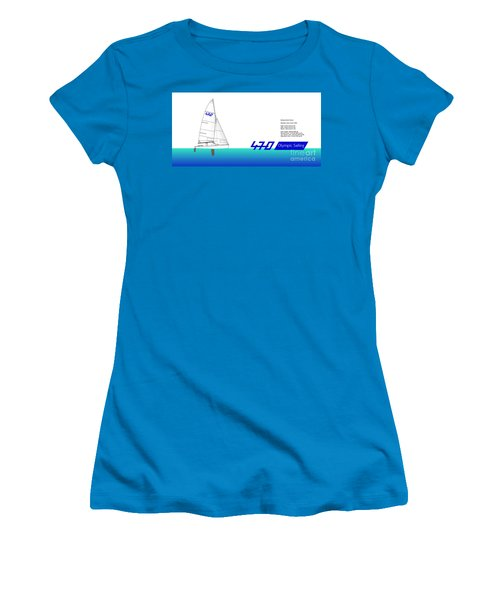 470 Olympic Sailing Women's T-Shirt (Athletic Fit)