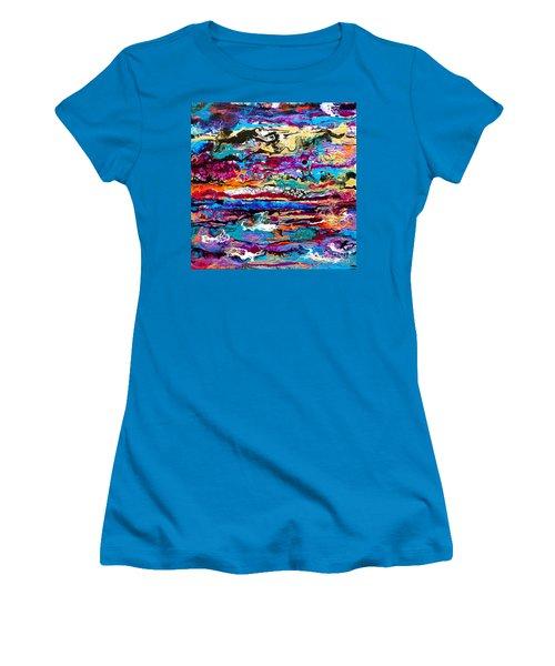 #521  Bright Swipe Women's T-Shirt (Athletic Fit)