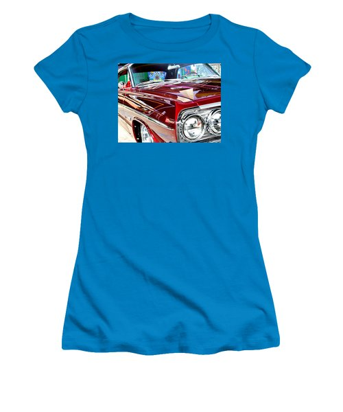 64 Chevy Impala Women's T-Shirt (Junior Cut) by Christopher Woods