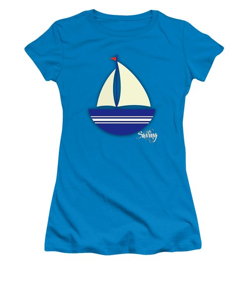 Nautical Collection Women's T-Shirt (Junior Cut) by Marvin Blaine