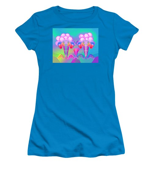 917 - Icecream Summerfruit A  Women's T-Shirt (Athletic Fit)
