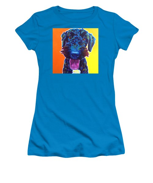 Airedoodle - Fletcher Women's T-Shirt (Athletic Fit)