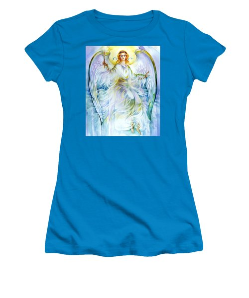 Angel Of Love Women's T-Shirt (Junior Cut) by Karen Showell