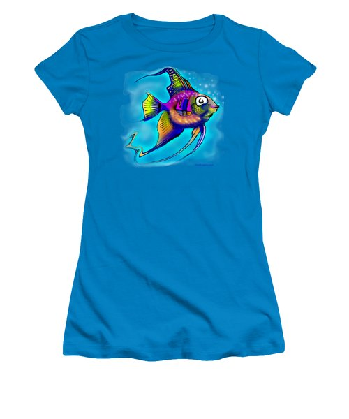 Angelfish Women's T-Shirt (Athletic Fit)