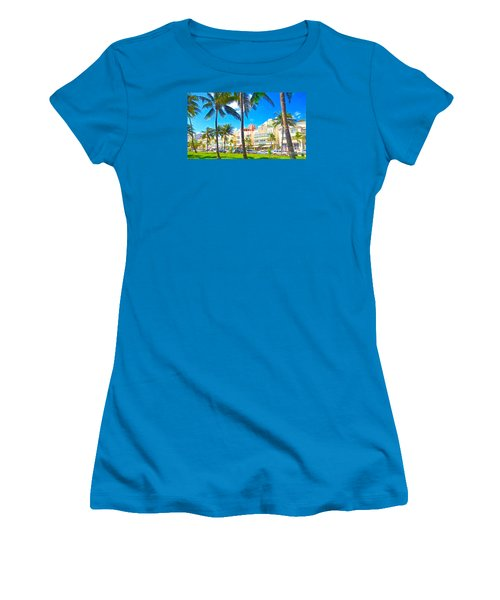 Women's T-Shirt (Junior Cut) featuring the painting Art Deco Style by Judy Kay