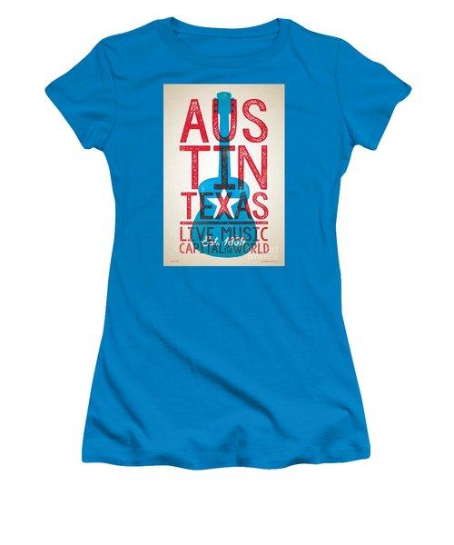 Austin Texas - Live Music Women's T-Shirt (Junior Cut) by Jim Zahniser