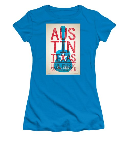 Austin Texas - Live Music Women's T-Shirt (Athletic Fit)