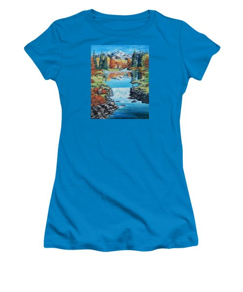 Autum Stag Women's T-Shirt (Athletic Fit)