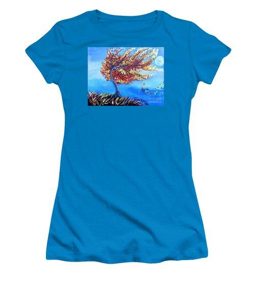 Autumn Whisper Women's T-Shirt (Athletic Fit)