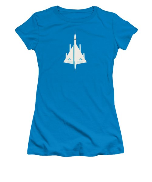 B-58 Hustler Supersonic Jet Bomber - Blue Women's T-Shirt (Athletic Fit)
