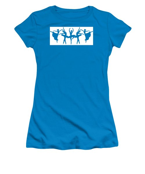 Ballerinas Dancing Silhouettes Women's T-Shirt (Athletic Fit)