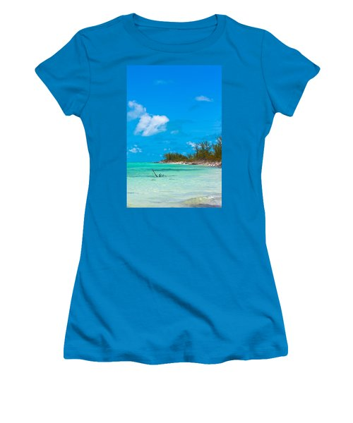 Beach At North Bimini Women's T-Shirt (Athletic Fit)