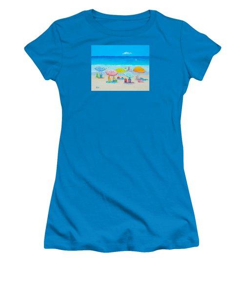 Beach Painting - Catching The Breeze Women's T-Shirt (Junior Cut) by Jan Matson
