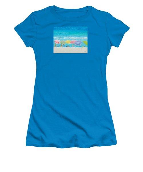 Beach Painting - Color Of Summer Women's T-Shirt (Junior Cut) by Jan Matson