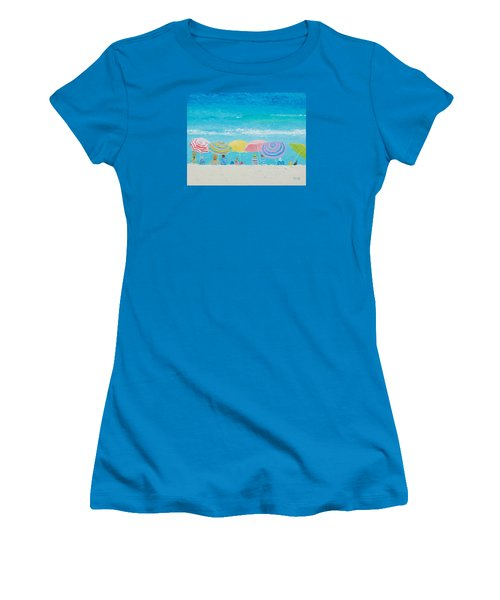 Beach Painting - Color Of Summer Women's T-Shirt (Athletic Fit)