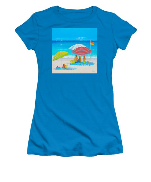 Beach Painting - Endless Summer Days Women's T-Shirt (Athletic Fit)