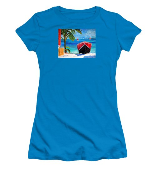 Women's T-Shirt (Junior Cut) featuring the painting Belizean Dream by Janet McDonald