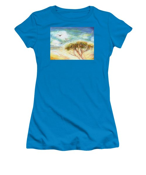 Women's T-Shirt (Junior Cut) featuring the drawing Betty's Tree by Denise Fulmer
