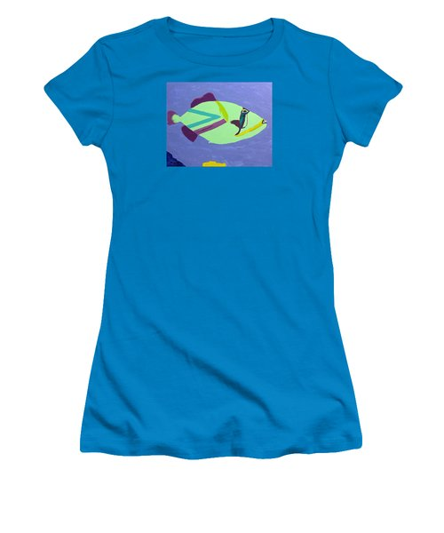 Big Fish In A Small Pond Women's T-Shirt (Junior Cut) by Karen Nicholson