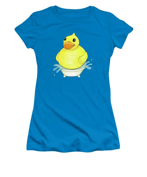 Big Happy Rubber Duck Women's T-Shirt (Athletic Fit)