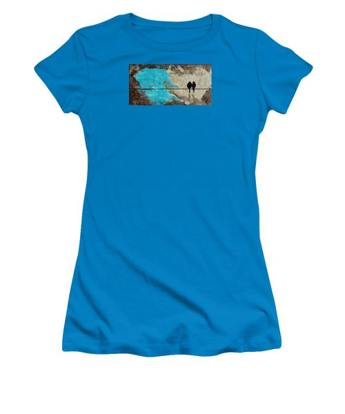 Birds On A Wire II Women's T-Shirt (Athletic Fit)
