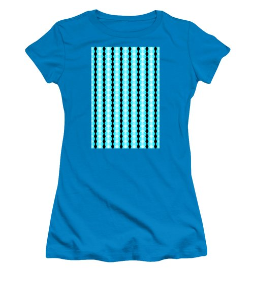 Black And Blue Diamonds Women's T-Shirt (Athletic Fit)