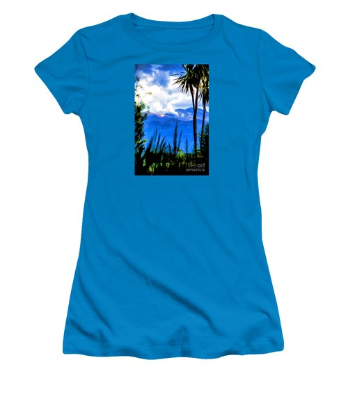 Women's T-Shirt (Junior Cut) featuring the photograph Blowing Steam by Rick Bragan