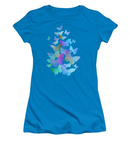Blue Butterfly Flutter Women's T-Shirt (Athletic Fit)
