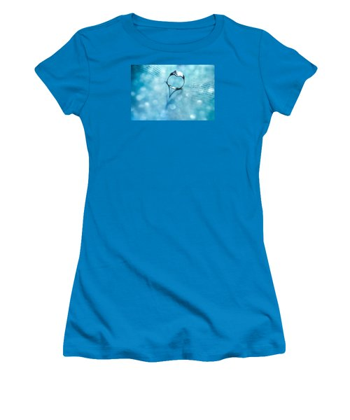Blue Heart Women's T-Shirt (Junior Cut) by Martina Fagan