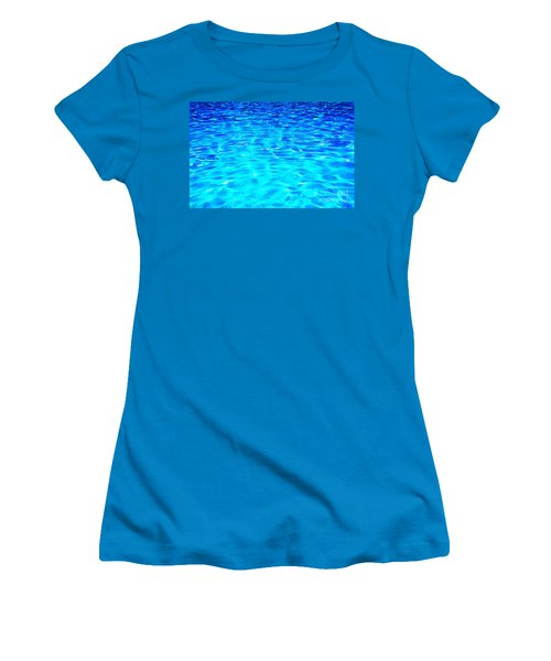 Women's T-Shirt (Junior Cut) featuring the photograph Blue Or Green by Ramona Matei