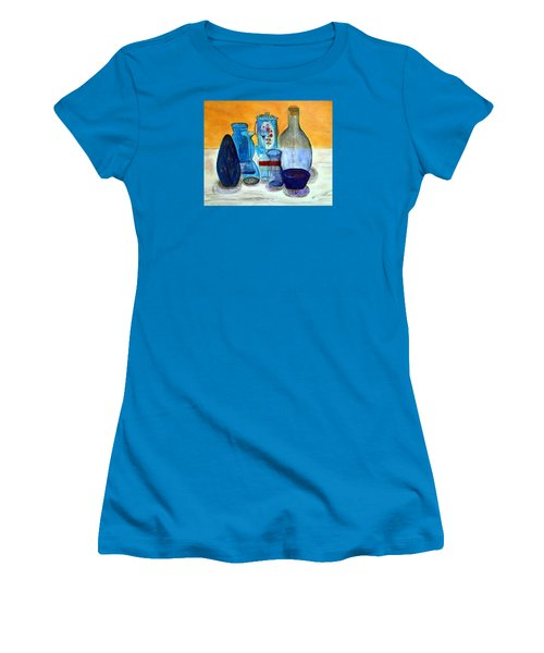 Blue Still Life Women's T-Shirt (Athletic Fit)