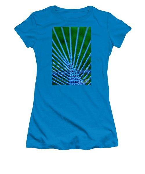 Blue Weave Women's T-Shirt (Athletic Fit)