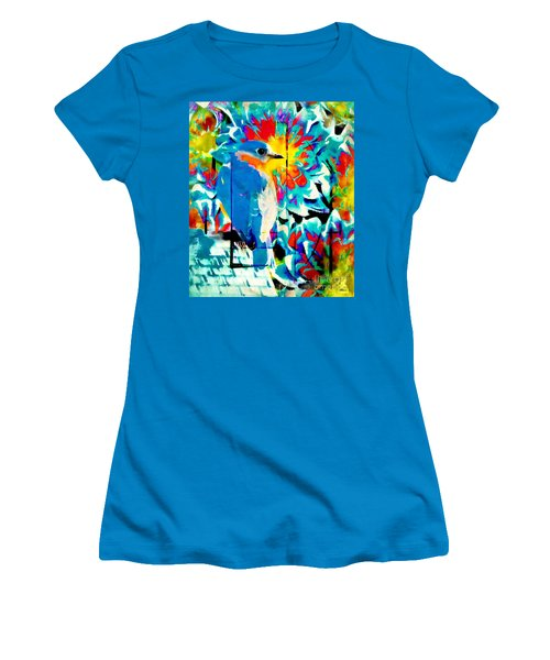 Bluebird Pop Art Women's T-Shirt (Athletic Fit)