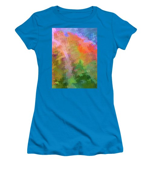 Blurry Painting Women's T-Shirt (Athletic Fit)