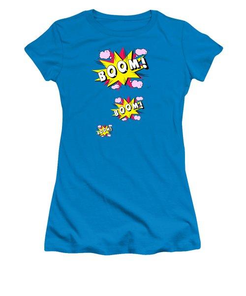 Boom Comics Women's T-Shirt (Junior Cut) by Mark Ashkenazi