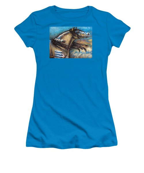 Buckskin Bell Blues Women's T-Shirt (Athletic Fit)