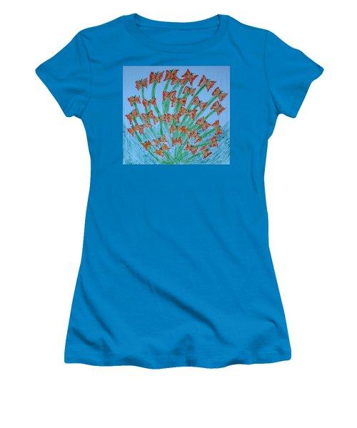 Butterfly Motion Women's T-Shirt (Junior Cut)