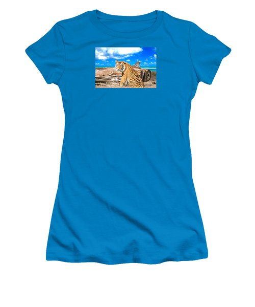 By The Sea Women's T-Shirt (Junior Cut) by Judy Kay