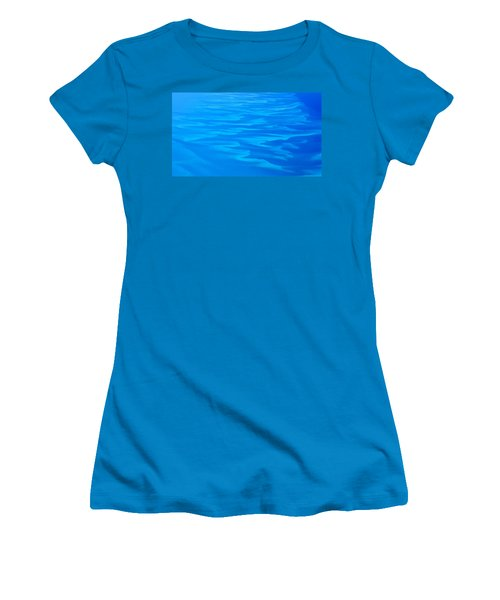 Women's T-Shirt (Junior Cut) featuring the photograph Caribbean Ocean Abstract by Jetson Nguyen