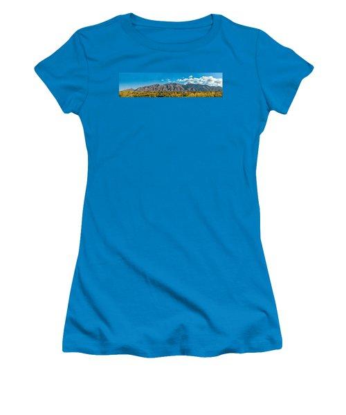 Women's T-Shirt (Junior Cut) featuring the photograph Catalina Mountain Panorama by Dan McManus