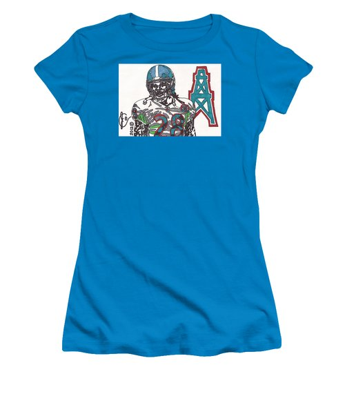 Chris Johnson  Women's T-Shirt (Junior Cut) by Jeremiah Colley