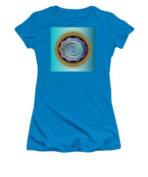 Women's T-Shirt (Junior Cut) featuring the digital art Circularium No 2663 by Alan Bennington